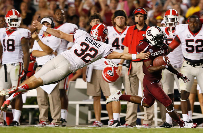 Ace Sanders #1 of the South Carolina Gamecocks. (Photo by Kevin C. Cox/Getty Images)