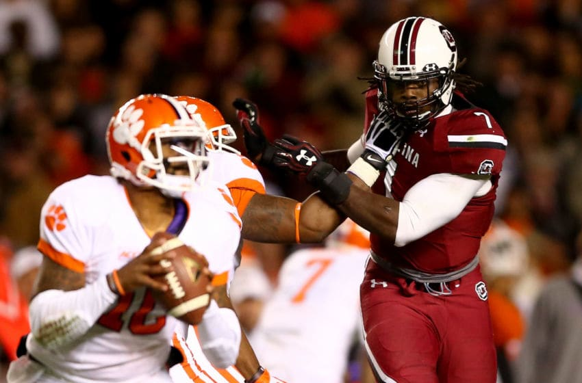 Jadeveon Clowney of the South Carolina Gamecocks (Photo by Streeter Lecka/Getty Images)