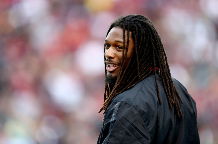 COLUMBIA, SC - NOVEMBER 23: Jadeveon Clowney #7 of the South Carolina Gamecocks during their game at Williams-Brice Stadium on November 23, 2013 in Columbia, South Carolina. (Photo by Streeter Lecka/Getty Images)