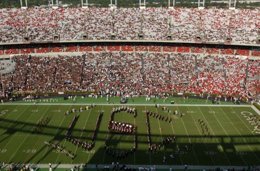 The South Carolina Gamecocks marching band performs. (Photo by Streeter Lecka/Getty Images)