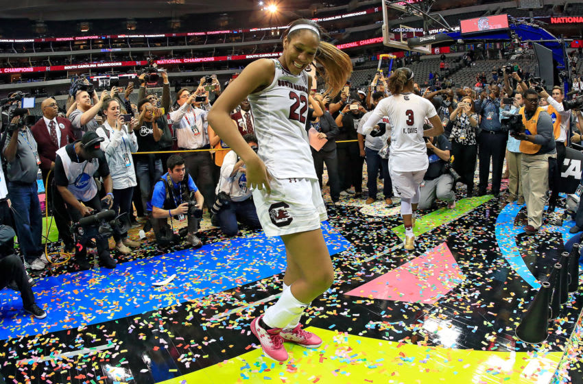 A'ja Wilson #22 of the South Carolina Gamecocks. (Photo by Ron Jenkins/Getty Images)