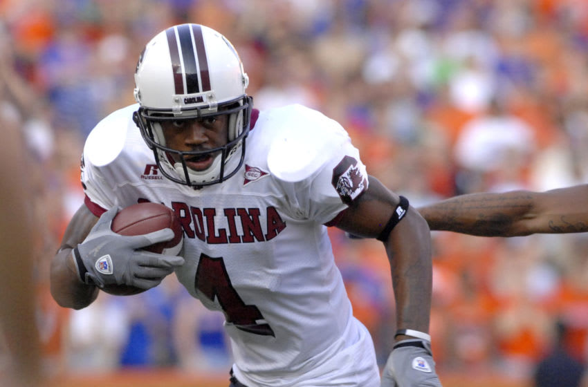 South Carolina wide receiver Sidney Rice. (Photo by A. Messerschmidt/Getty Images)
