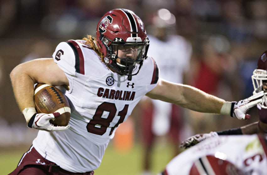 Hayden Hurst #81 of the South Carolina Gamecocks. (Photo by Wesley Hitt/Getty Images)