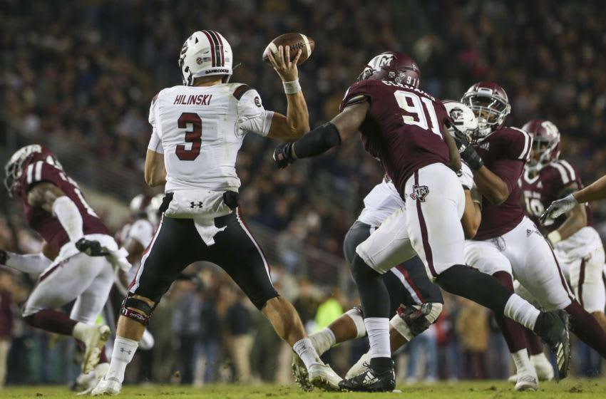 South Carolina Gamecocks quarterback Ryan Hilinski (3). Mandatory Credit: John Glaser-USA TODAY Sports