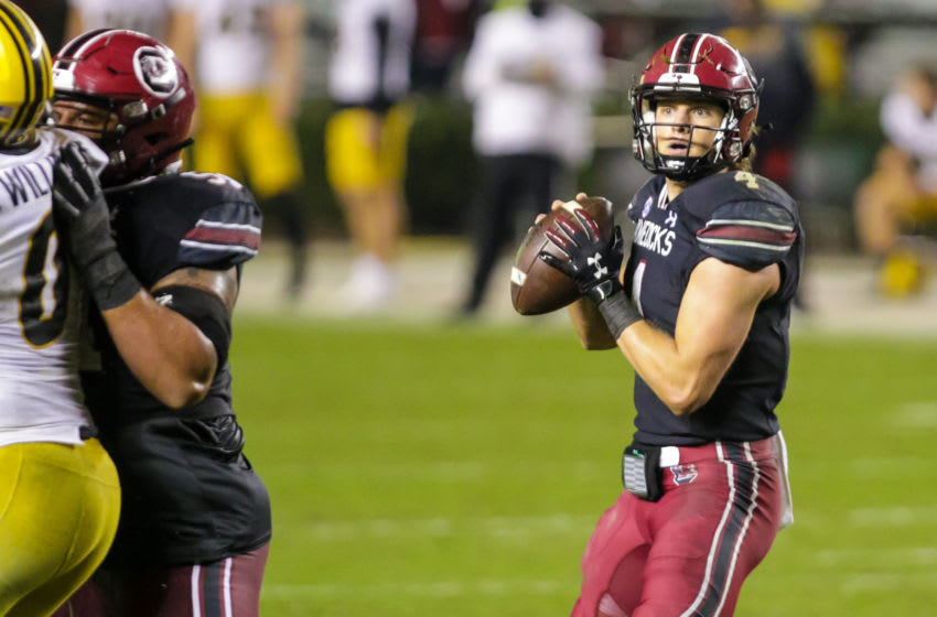 South Carolina Gamecocks quarterback Luke Doty (4). Mandatory Credit: Jeff Blake-USA TODAY Sports