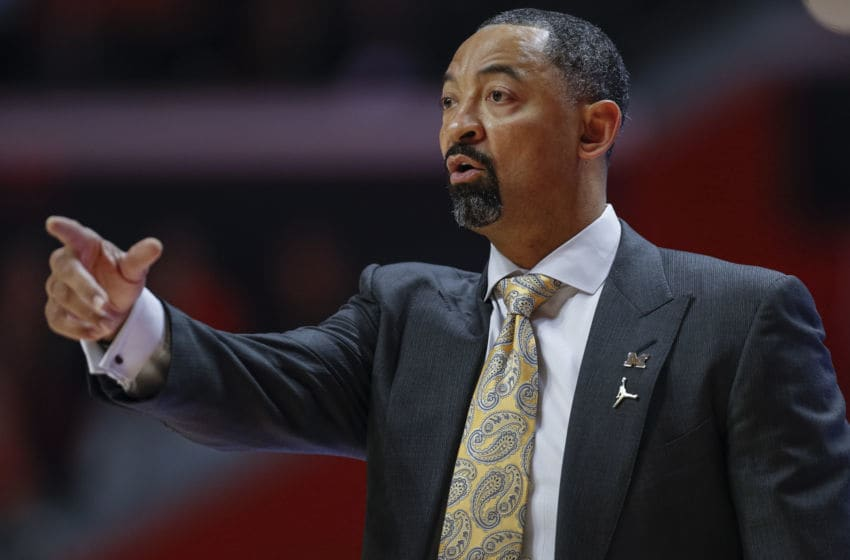 CHAMPAIGN, IL - DECEMBER 11: Head coach Juwan Howard of the Michigan Wolverines is seen during the first half against the Illinois Fighting Illini at State Farm Center on December 11, 2019 in Champaign, Illinois. (Photo by Michael Hickey/Getty Images)