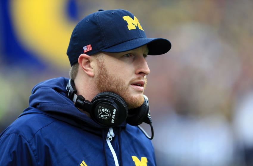 Michigan football coach Jay Harbaugh (Photo by Andrew Weber/Getty Images)