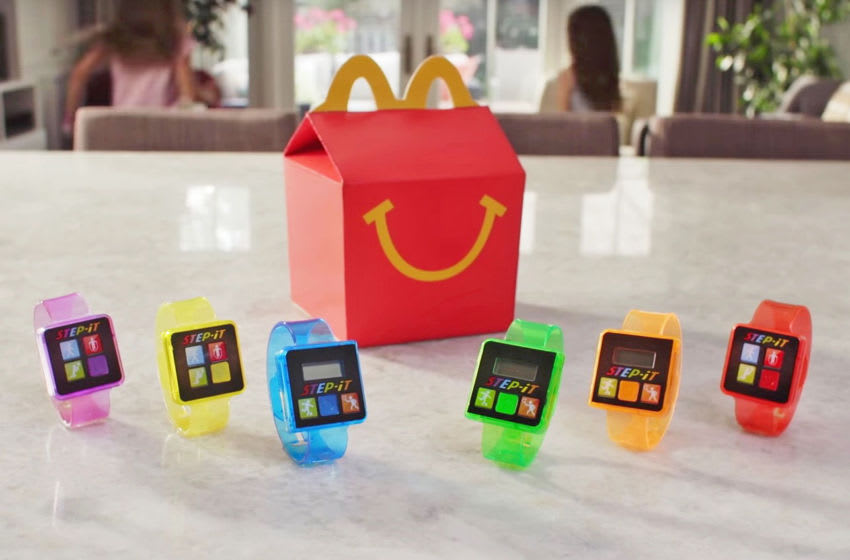 McDonald's new Step-it Activity Bands come in 6 different colors. (Credit: McDonald's)