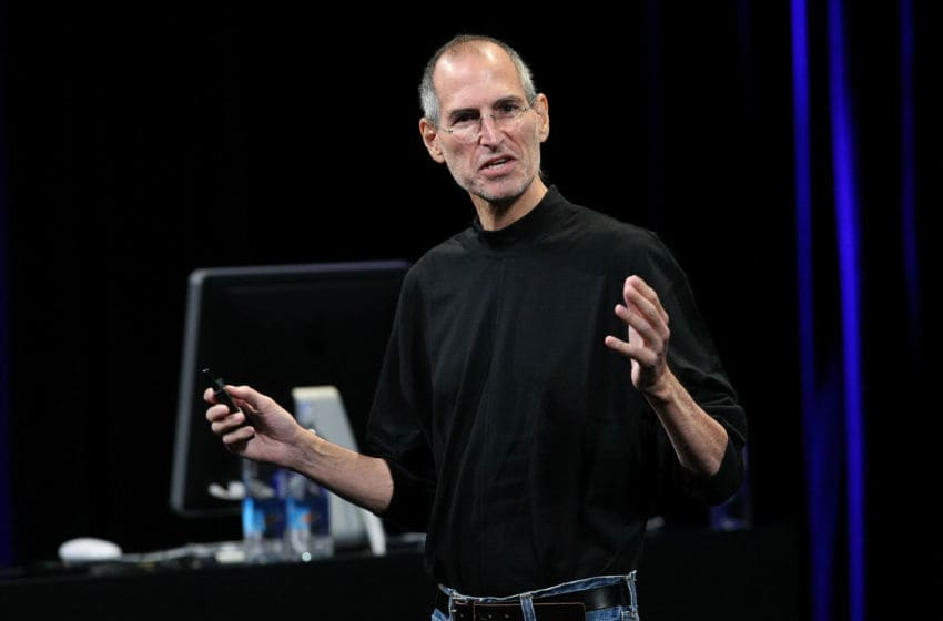 SAN FRANCISCO - SEPTEMBER 09: Apple CEO Steve Jobs speaks during a special event September 9, 2009 in San Francisco, California. Apple debuted iTunes 9 during the presentation. (Photo by Justin Sullivan/Getty Images)