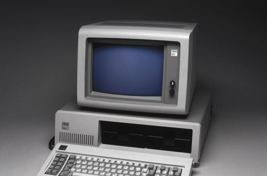 The IBM Personal Computer System was introduced to the market in 1981. (Photo by SSPL/Getty Images)