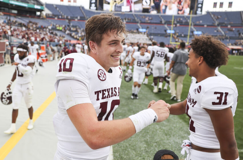 Zach Calzada, Texas A&M Football (Photo by Michael Ciaglo/Getty Images)