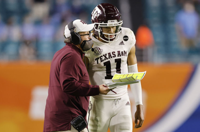 Kellen Mond, Texas A&M (Photo by Michael Reaves/Getty Images)