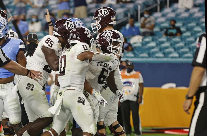 Devon Achane, Texas A&M Football (Photo by Joel Auerbach/Getty Images)