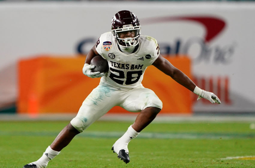 Isaiah Spiller, Texas A&M Football (Photo by Mark Brown/Getty Images)