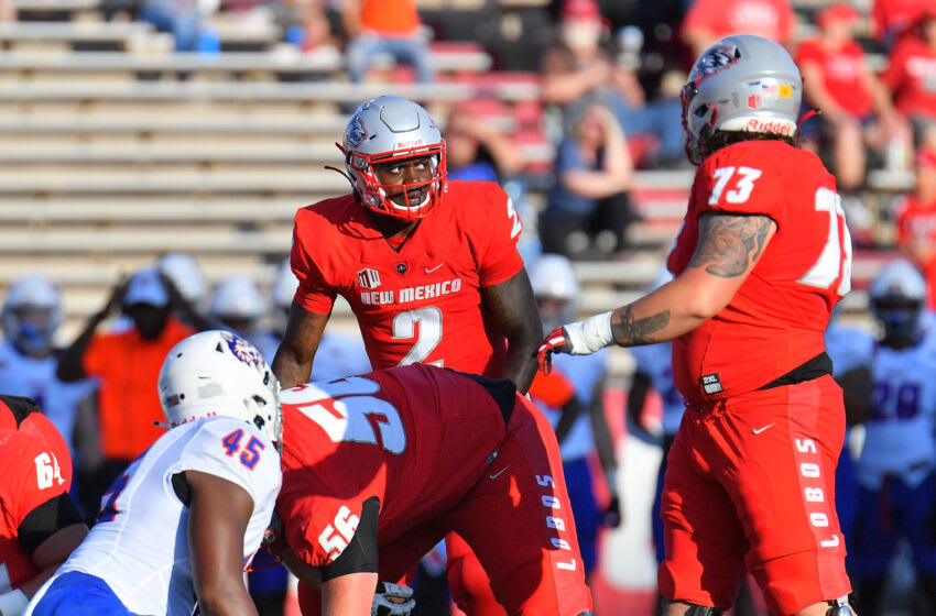 Terry Wilson, New Mexico Football (Photo by Sam Wasson/Getty Images)