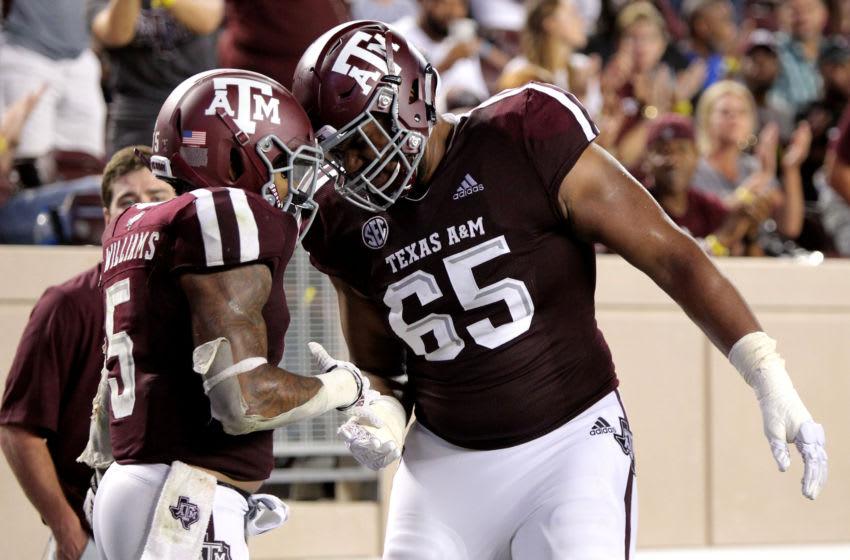 Dan Moore Jr., Texas A&M Football Mandatory Credit: Erik Williams-USA TODAY Sports