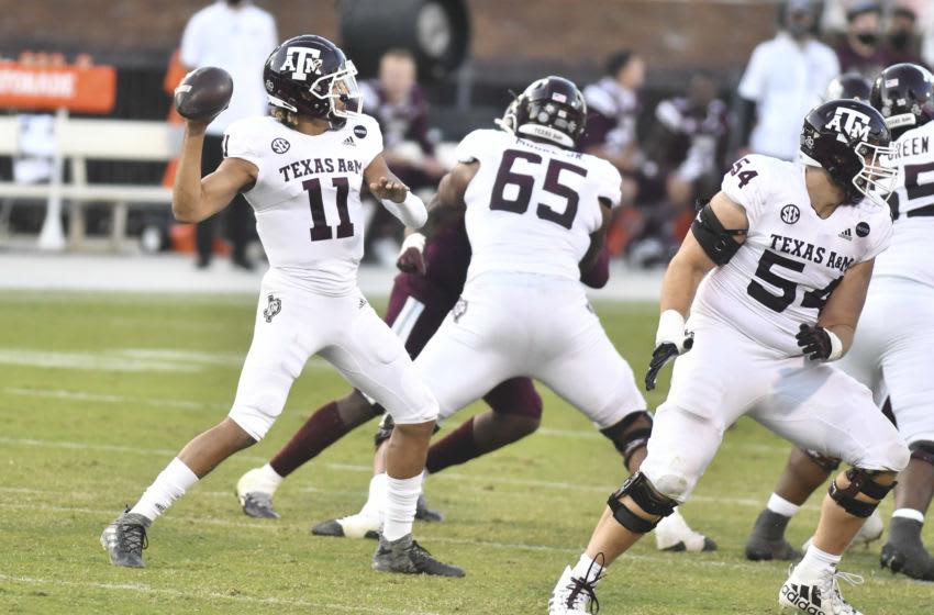 Kellen Mond, Texas A&M Football Mandatory Credit: Matt Bush-USA TODAY Sports