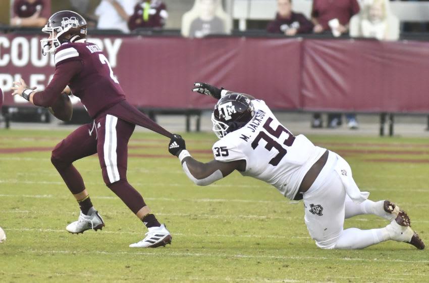 McKinnley Jackson, Texas A&M Football Mandatory Credit: Matt Bush-USA TODAY Sports