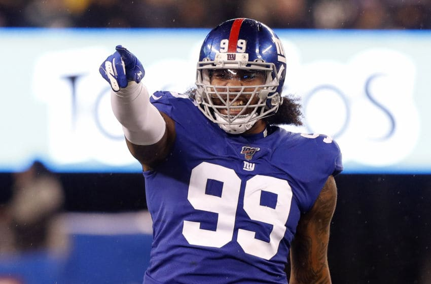 EAST RUTHERFORD, NEW JERSEY - DECEMBER 29: (NEW YORK DAILIES OUT) Leonard Williams #99 of the New York Giants in action against the Philadelphia Eagles at MetLife Stadium on December 29, 2019 in East Rutherford, New Jersey. The Eagles defeated the Giants 34-17. (Photo by Jim McIsaac/Getty Images)