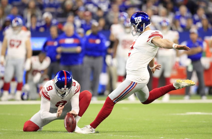 Aldrick Rosas of the New York Giants (Photo by Andy Lyons/Getty Images)