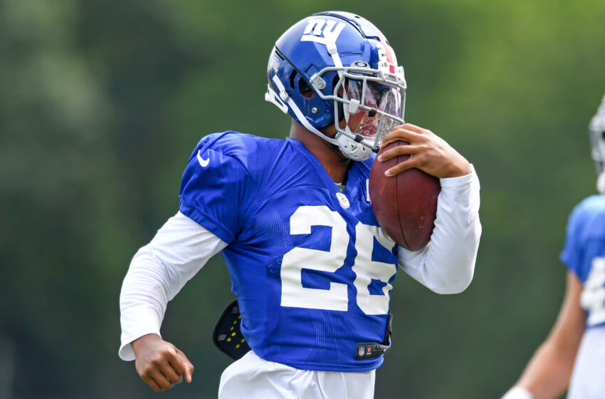 Saquon Barkley #26 of the New York Giants (Photo by Nick Cammett/Getty Images)