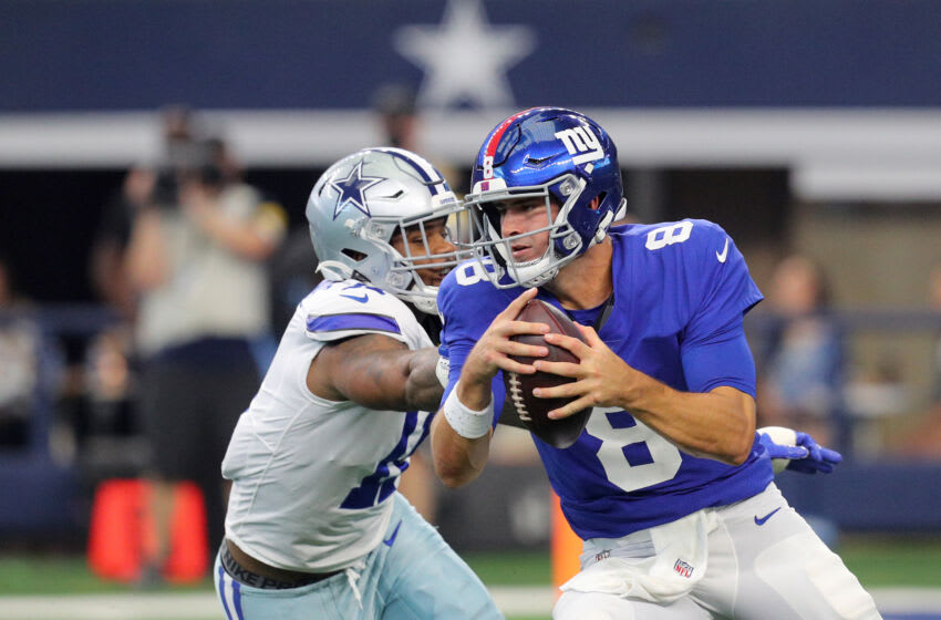 Daniel Jones #8 of the New York Giants(Photo by Richard Rodriguez/Getty Images)