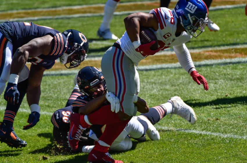 New York Giants running back Saquon Barkley (Mandatory Credit: Jeffrey Becker-USA TODAY Sports)
