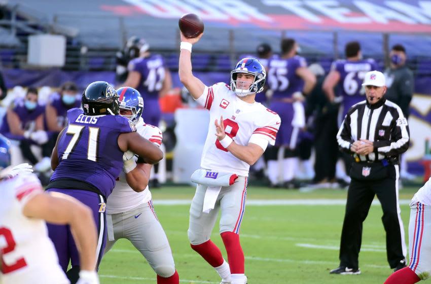 New York Giants quarterback Daniel Jones (Mandatory Credit: Evan Habeeb-USA TODAY Sports)