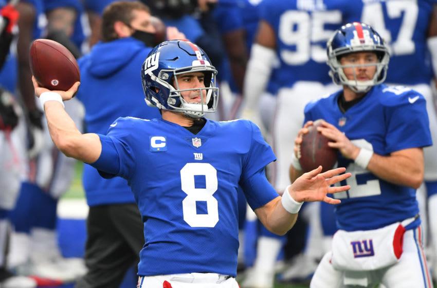 New York Giants quarterback Daniel Jones (Mandatory Credit: Robert Deutsch-USA TODAY Sports)