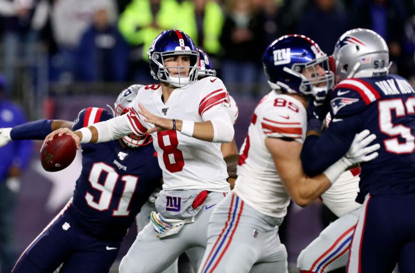 New York Giants quarterback Daniel Jones (Mandatory Credit: Paul Rutherford-USA TODAY Sports)