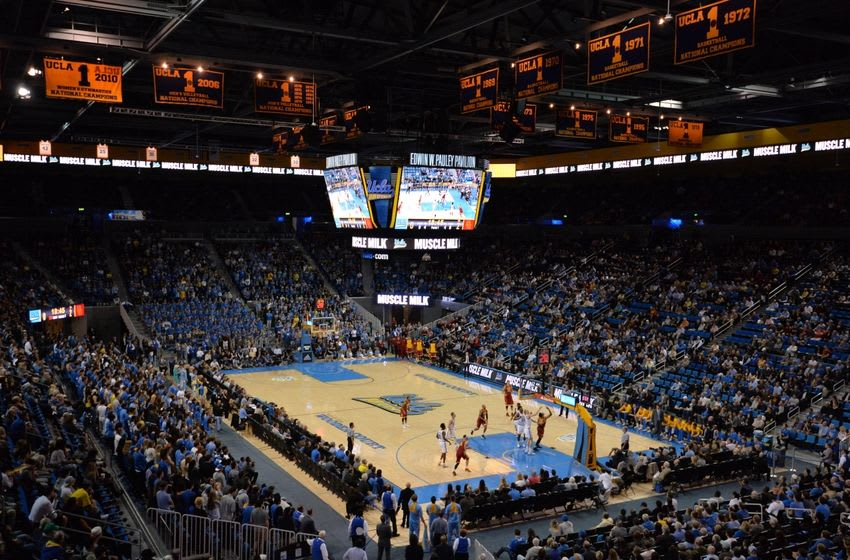 Jan 13, 2016; Los Angeles, CA, USA; General view of an NCAA basketball game between the Southern California Trojans and the UCLA Bruins at Pauley Pavilion. Mandatory Credit: Kirby Lee-USA TODAY Sports