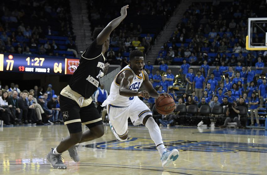 Dec 21, 2016; Los Angeles, CA, USA; UCLA Bruins guard Aaron Holiday (3) controls the ball against Western Michigan Broncos guard Thomas Wilder (10) in the second half at Pauley Pavilion. Mandatory Credit: Richard Mackson-USA TODAY Sports