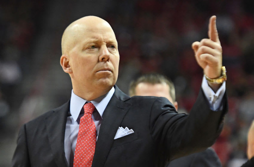 LAS VEGAS, NEVADA - DECEMBER 01: Head coach Mick Cronin of the Cincinnati Bearcats gestures to his players during their game against the UNLV Rebels at the Thomas & Mack Center on December 01, 2018 in Las Vegas, Nevada. The Bearcats defeated the Rebels 65-61. (Photo by Ethan Miller/Getty Images)