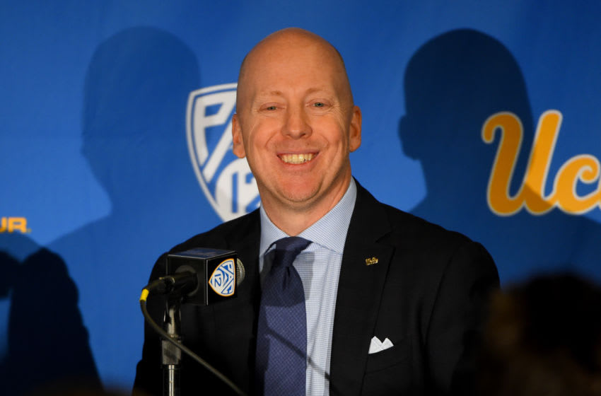 LOS ANGELES, CA - APRIL 10: Mick Cronin speaks to the media after he was introduced as the new UCLA Mens Head Basketball Coach at Pauley Pavilion on April 10, 2019 in Los Angeles, California. (Photo by Jayne Kamin-Oncea/Getty Images)