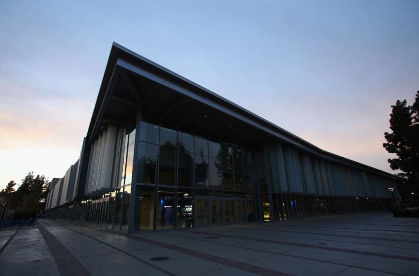 LOS ANGELES, CA - NOVEMBER 18: General view of the exterior of Pauley Pavilion is seen prior to the start of the game between the Sacramento State Hornets and the UCLA Bruins on November 18, 2013 in Los Angeles, California. (Photo by Jeff Gross/Getty Images)