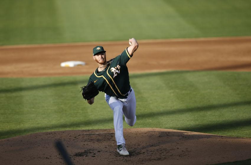 Oakland Athletics, A.J. Puk (Photo by Michael Zagaris/Oakland Athletics/Getty Images)