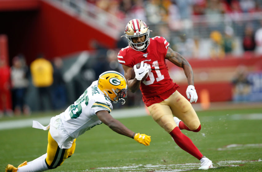 Raheem Mostert (Photo by Michael Zagaris/San Francisco 49ers/Getty Images)
