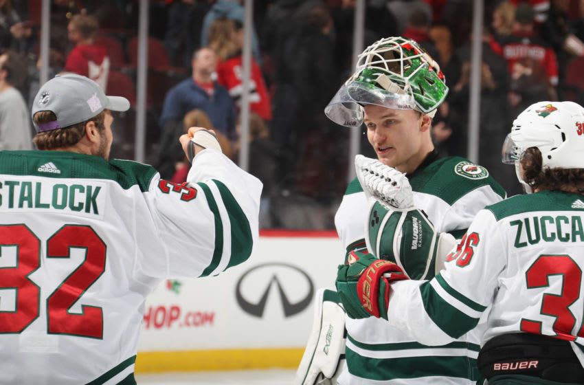 Minnesota Wild goalie Kaapo Kahkonen is one of the players avaiilable fort the Seattle Kraken to select in Wednesday's NHL Expansion Draft (Photo by Bruce Bennett/Getty Images)