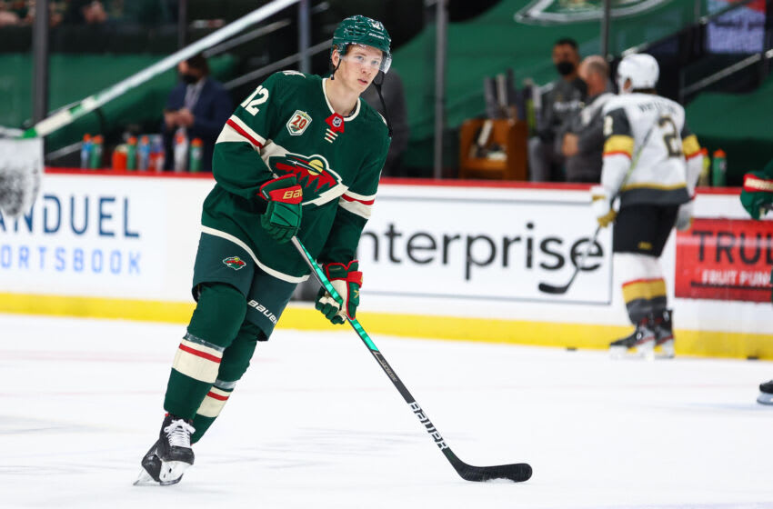 Matt Boldy nearly made his debut with the Minnesota Wild during the playoffs last year and will have a strong opportunity to make the roster out of training camp this season (Photo by Harrison Barden/Getty Images)