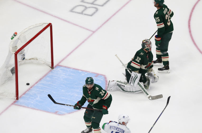 EDMONTON, ALBERTA - AUGUST 07: Minnesota Wild, Alex Stalock #32 (Photo by Jeff Vinnick/Getty Images)