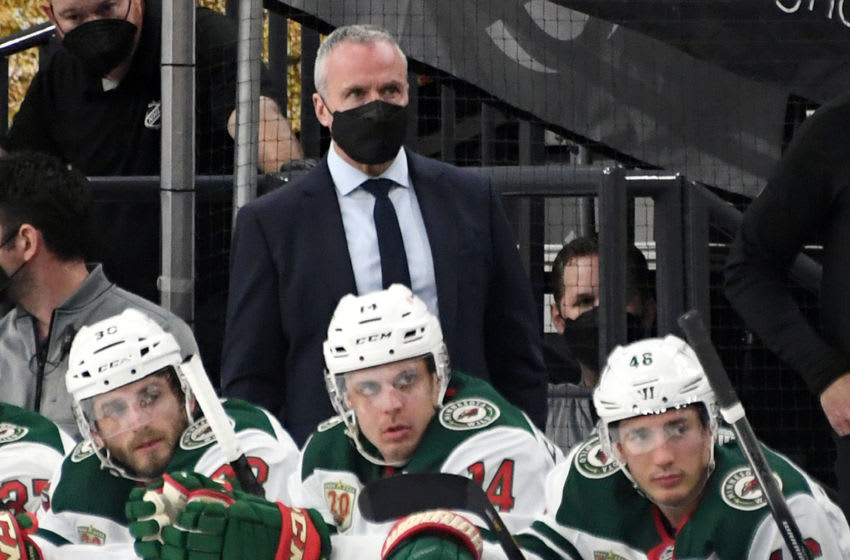 Minnesota Wild coach Dean Evason said the team will have some 'gametime decisions' leading into Wednesday's Game 6 matchup. Rookie winger Matt Boldy imight get the nod to make his debut with the team. (Photo by Ethan Miller/Getty Images)