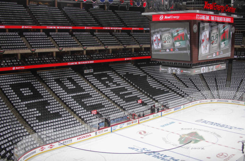 ST. PAUL, MN - APRIL 17: A general view of the Xcel Energy Center before Game Four of the Western Conference First Round during the 2018 NHL Stanley Cup Playoffs between the Winnipeg Jets and the Minnesota Wild on April 17, 2018 in St. Paul, Minnesota. (Photo by Bruce Kluckhohn/NHLI via Getty Images)