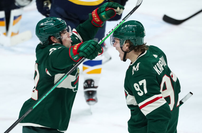 Kevin Fiala, left, and Kirill Kaprizov were two key players that the MInnesota Wild signed to new contracts this offseason. (David Berding-USA TODAY Sports