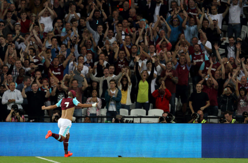 West Ham in Europe. (Photo by Matthew Ashton - AMA/Getty Images)