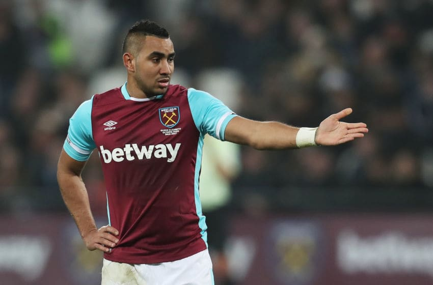 STRATFORD, ENGLAND - DECEMBER 17: Dimitri Payet of West Ham United looks on during the Premier League match between West Ham United and Hull City at London Stadium on December 17, 2016 in Stratford, England. (Photo by Chris Brunskill Ltd/Getty Images)