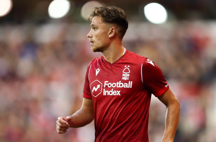 NOTTINGHAM, ENGLAND - JULY 19: Matty Cash of Nottingham Forest during the Pre-Season Friendly match between Nottingham Forest and Crystal Palace at City Ground on July 19, 2019 in Nottingham, England. (Photo by James Williamson - AMA/Getty Images)