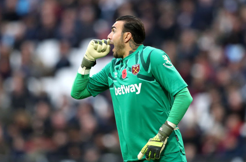 LONDON, ENGLAND - NOVEMBER 02: Roberto of West Ham United during the Premier League match between West Ham United and Newcastle United at London Stadium on November 02, 2019 in London, United Kingdom. (Photo by Alex Pantling/Getty Images)