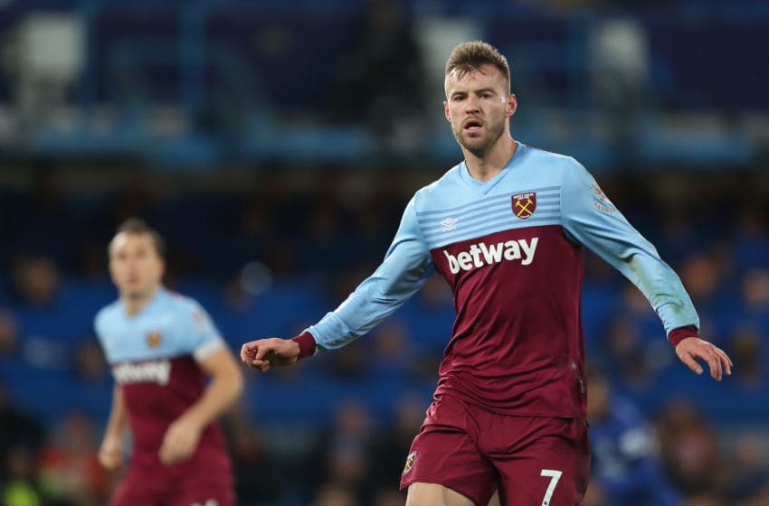 LONDON, ENGLAND - NOVEMBER 30: Andriy Yarmolenko of West Ham United during the Premier League match between Chelsea FC and West Ham United at Stamford Bridge on November 30, 2019 in London, United Kingdom. (Photo by James Williamson - AMA/Getty Images)