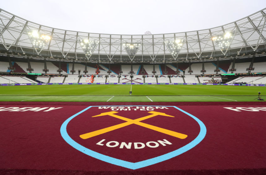 LONDON, ENGLAND - NOVEMBER 23: General view inside the stadium prior to the Premier League match between West Ham United and Tottenham Hotspur at London Stadium on November 23, 2019 in London, United Kingdom. (Photo by Catherine Ivill/Getty Images)