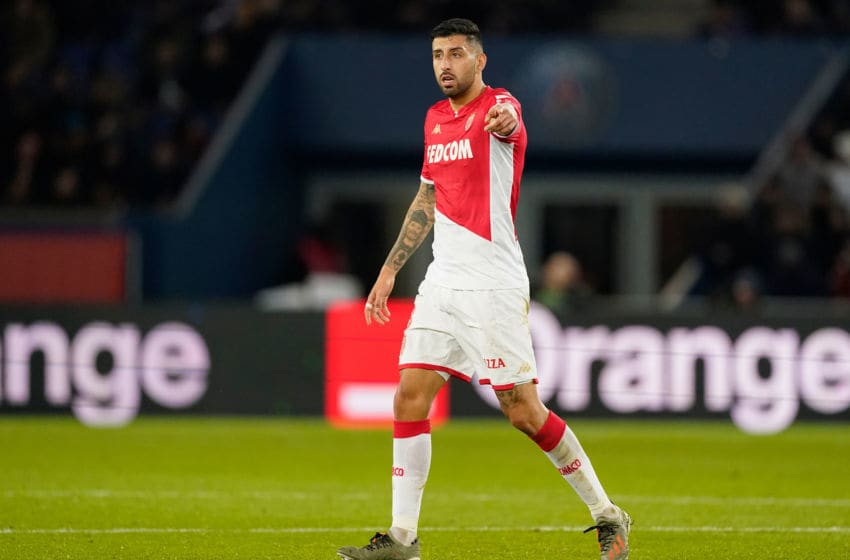 PARIS, FRANCE - JANUARY 12: Guillermo Maripan of AS Monaco during the French League 1 match between Paris Saint Germain v AS Monaco at the Parc des Princes on January 12, 2020 in Paris France (Photo by Jeroen Meuwsen/Soccrates/Getty Images)
